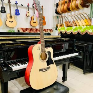 Guitar HT Music Nâu